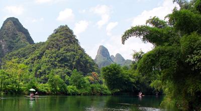 桂林大正温泉、冠岩、漓江、阳朔风光、遇龙河休闲度假四日游
