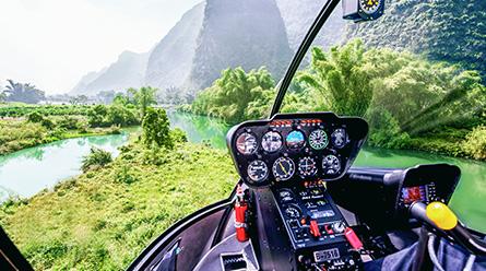 (直升机之旅)桂林阳朔二日游自由行乘直升机赏阳朔美景