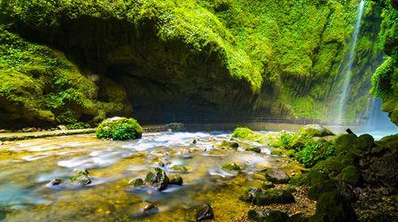 <德天瀑布-通灵峡谷二日游>感受气势雄浑的大瀑布,游览花千骨拍摄地